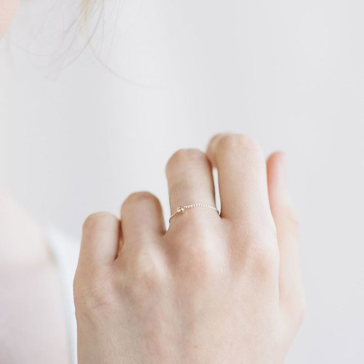 thread ring by favor jewelry