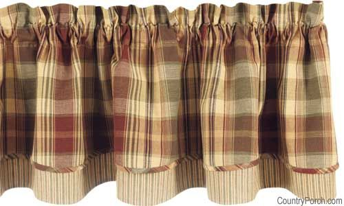 Saffron Layered Curtain Valance By Park Designs At The