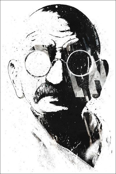GANDHI  $48.00    This Fine Art Print is made to order just for you, according to your specifications of size and format below. Click the images on the left to learn more about the different formats and sizes available, and order with confidence as we guarantee you'll be delighted with your new art.