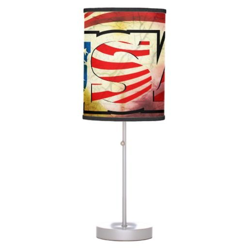 #USA #flag Table #Lamp