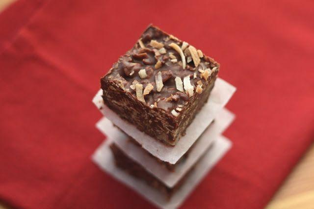 No-Bake Chocolate Peanut Butter Coconut Bites | Recipe | Butter ...