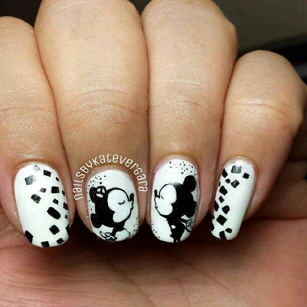 Mickey mouse nail design - 85 Best Nails Images On Pinterest Make Up, Pretty Nails And Mice