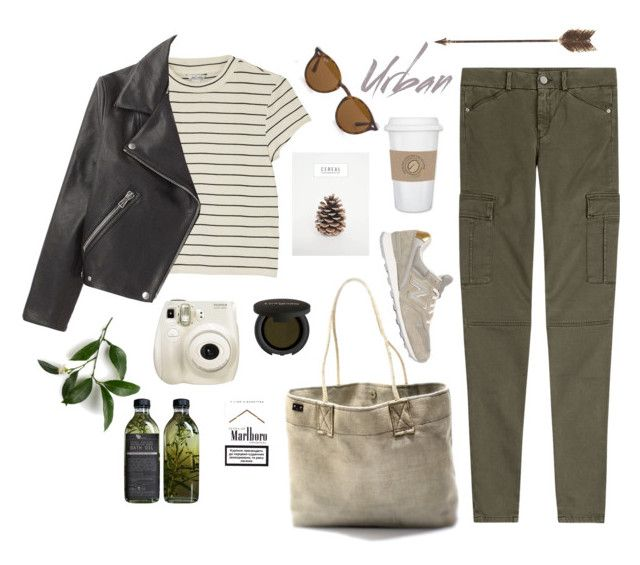 """""""Untitled #33"""" by nagy-bori on Polyvore featuring 7 For All Mankind, Gorgeous Cosmetics, Ray-Ban, New Balance, Creative Co-op and Monki"""