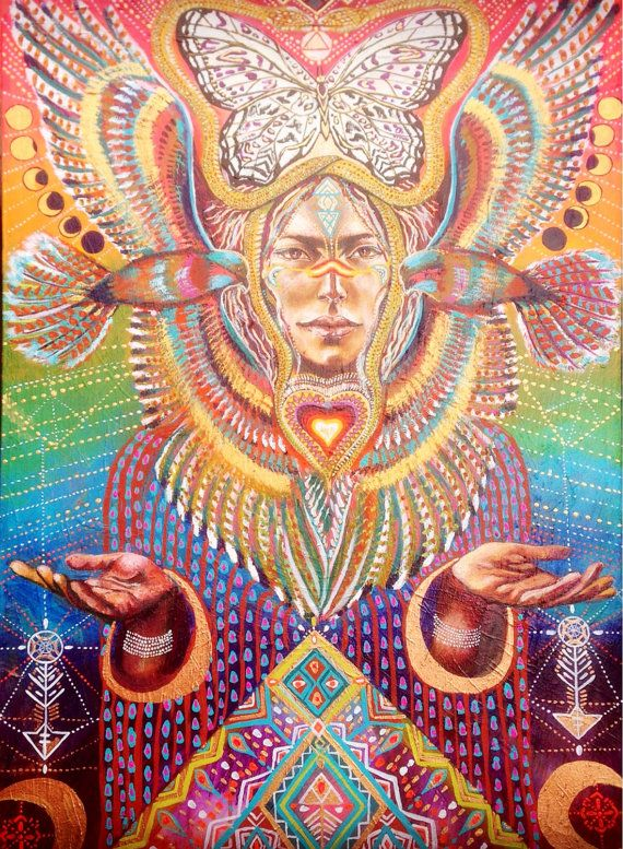 Bird tribe Feathered goddess Native Sacred Geometry, Sacred, ayahuasca art, moon phases art / Sacred Geometry <3