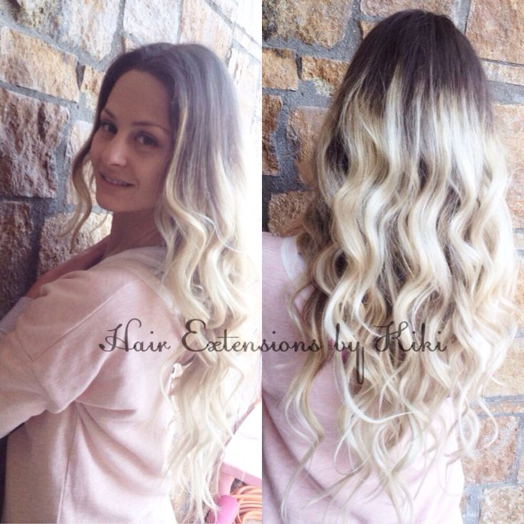 100% human hair extensions  Long hair -Ombre Style-blonde Colour