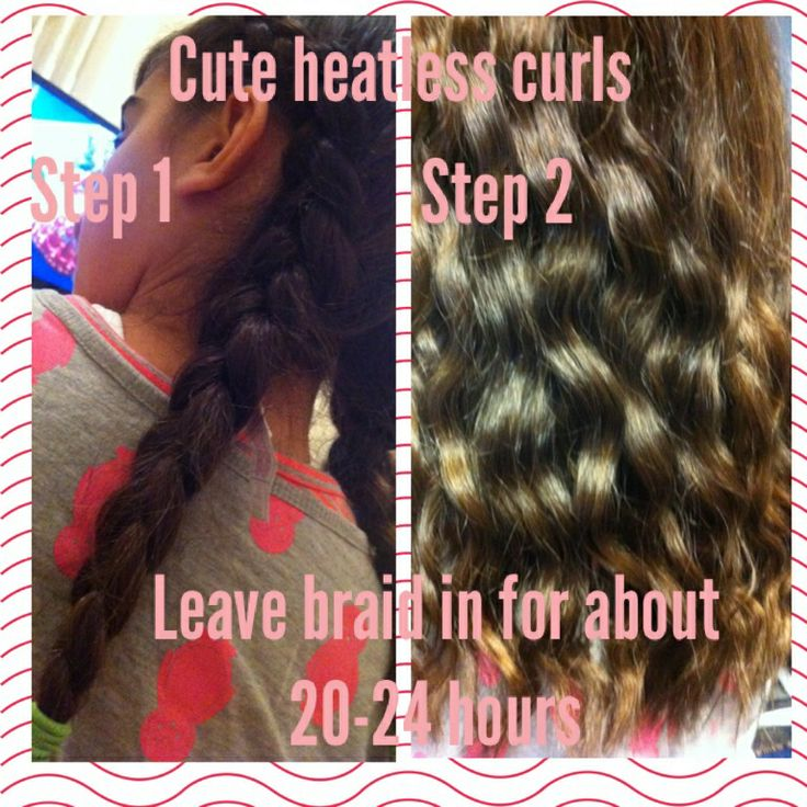 Step 1-French braid your hair(pigtails) Step 2-leave it in for about ...