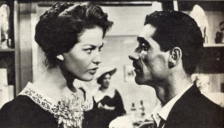"""Tiberio Murgia e Claudia Cardinale al loro debutto ne """"I soliti ignoti"""" 1958"""