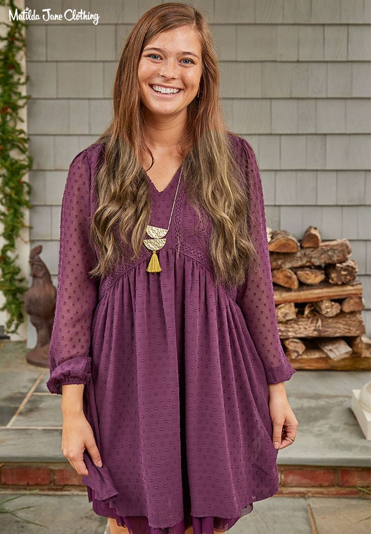 fdefa03fb6 Choose Your Own Path, Fall 2018, Festive Fancy Dress. Made in a deep,  beautiful purple, this gorgeous dress is oh so fancy! Dress it up with a  pair of your ...