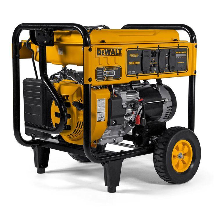 Dewalt 8000watt gasoline powered electric start portable
