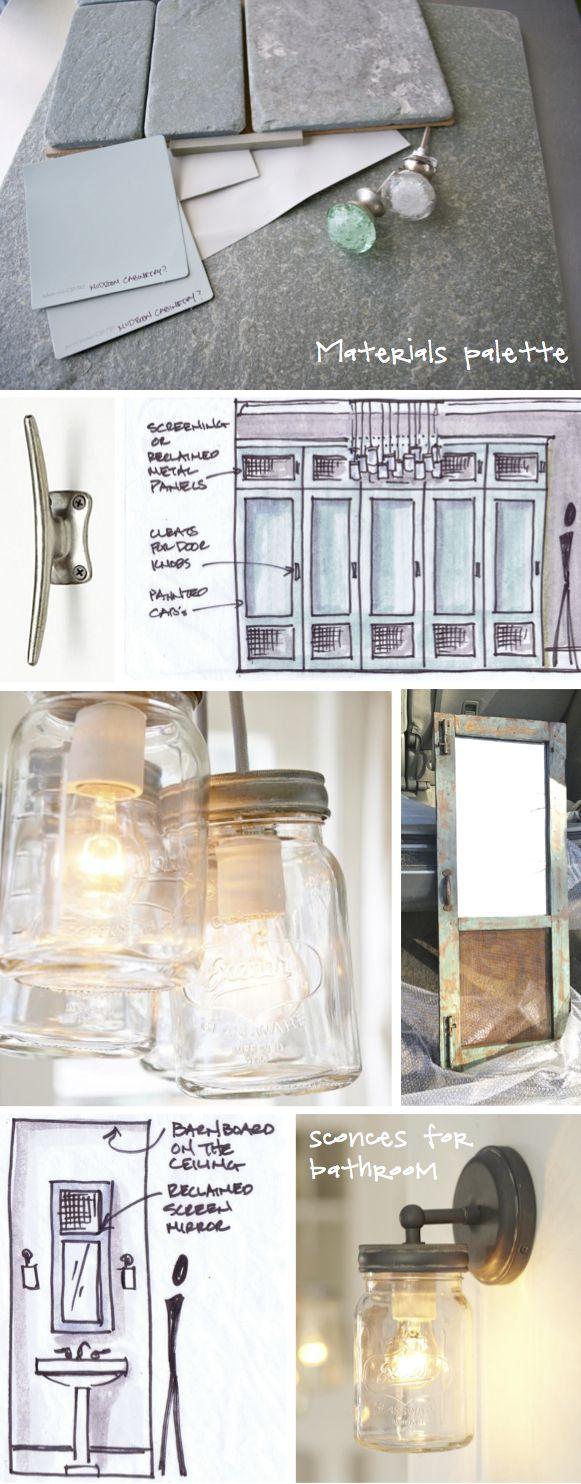 Kristina Crestin Design MUDROOM Sketches Interior RenderingInterior ArchitectureEssex