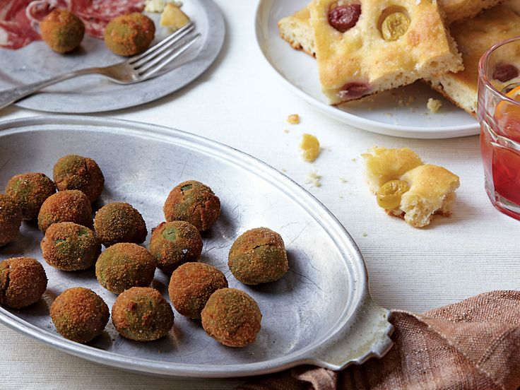 Olives are stuffed with a simple beef and pork filling and fried for a more substantial snack in this recipe from Abruzzo winemaker Emidio Pepe's wife, Rosa.