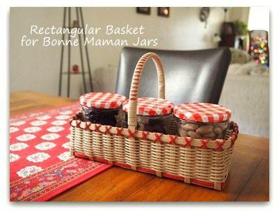 Basket for Bonne Maman Jars