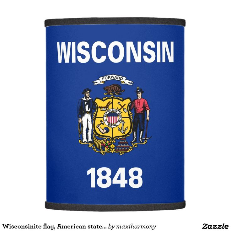 Wisconsinite flag, American state flag Lamp Shade