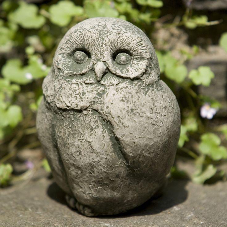 Campania International Baby Barn Owl Cast Stone Garden Statue - A-346-AL
