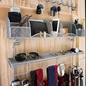 Silver Longstem men's accessory organizer