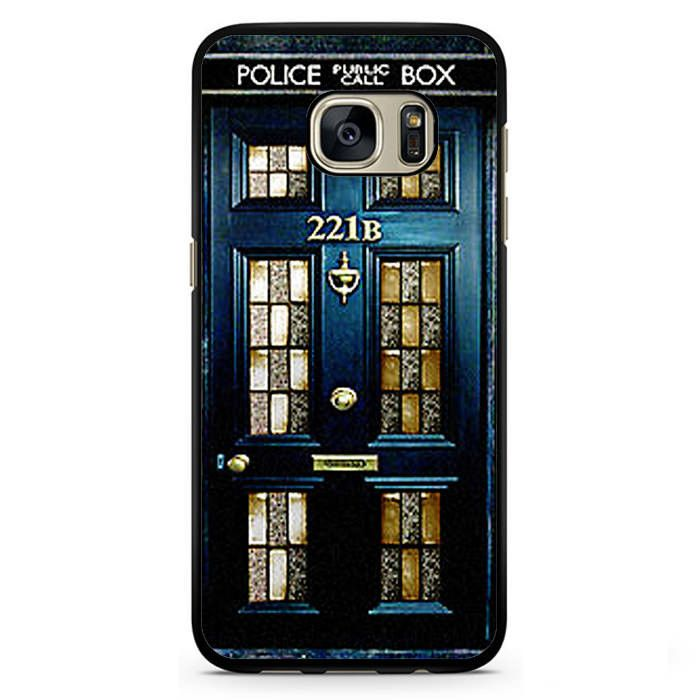 Tardis Dr Who 221 B Sherlock Holmes Door Phonecase Cover Case For Samsung Galaxy S3 Samsung Galaxy S4 Samsung Galaxy S5 Samsung Galaxy S6 Samsung Galaxy S7