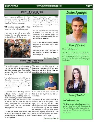 17 best images about School Newspaper Templates on ...