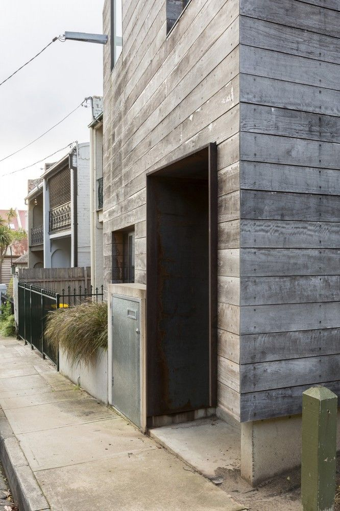 timber cladding - Grey Box House in conservation area - aka The Ark or Stirling…