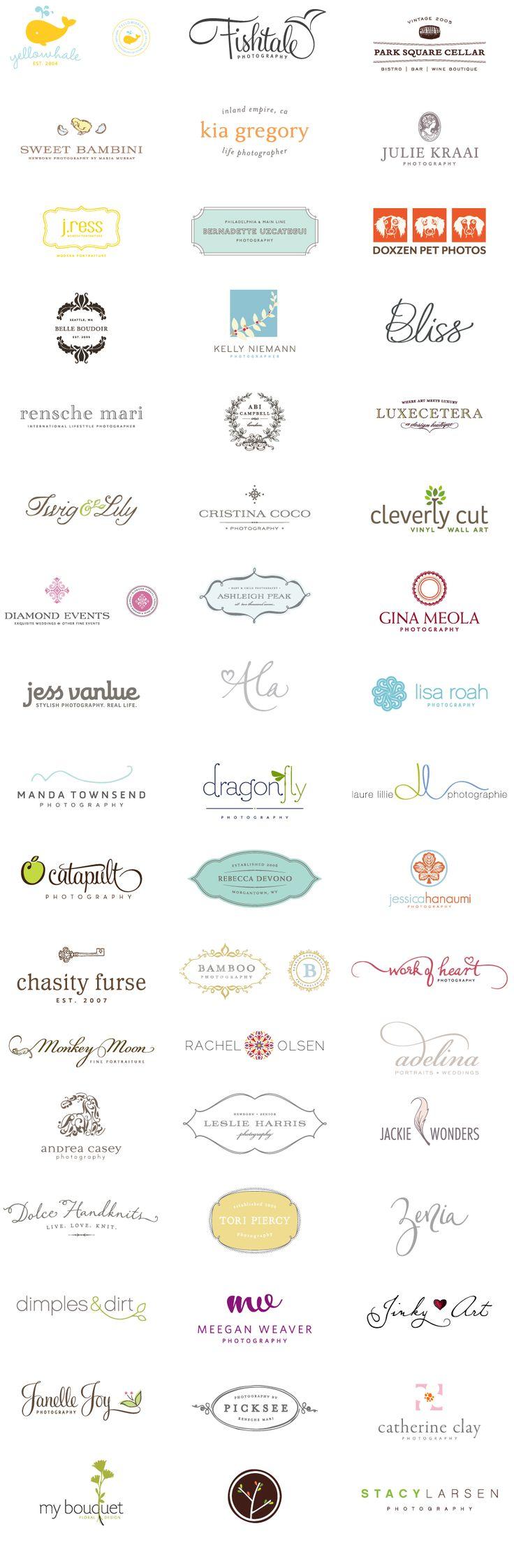 great logo design - I like the type used on rensche mari / cristina coco / adelina / leslie harris / zenia