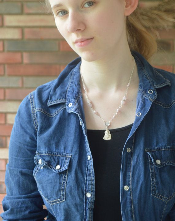 Saint Therese Necklace,Religious Catholic jewelry by FifteenMagpieLane on Etsy