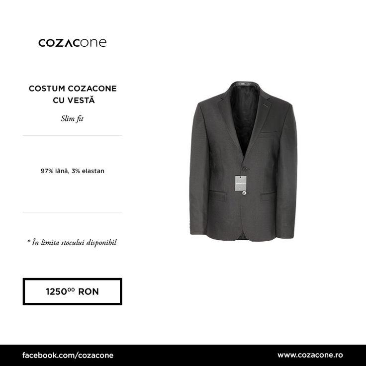 Un costum gri cu vestă e perfect pentru ţinutele business de primăvară: http://www.cozacone.ro/produse/detalii/costum-cozacone-cu-vesta-2/