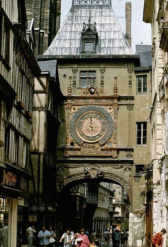 Rouen, France.  Joan of Arc burned at the stake here.