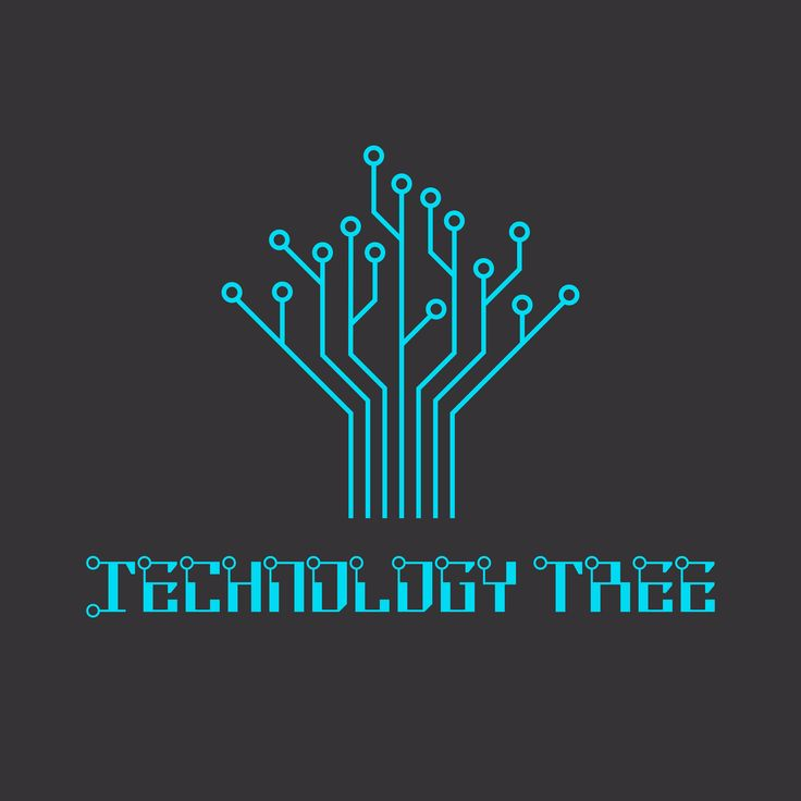 Technology tree of the microcircuit, engineering logo.
