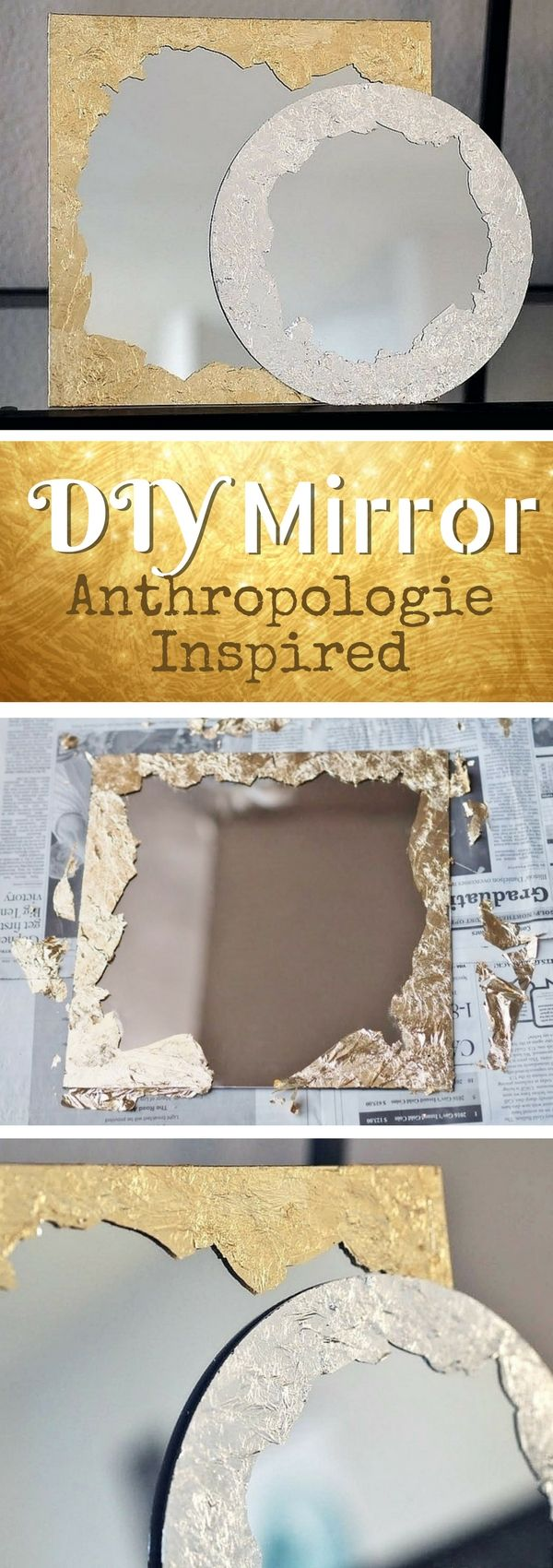 Check out how to make DIY Anthropologie inspired plated brushstroke mirrors @istandarddesign