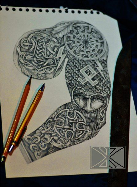 193 best tattoo images on pinterest viking tattoos for Norse tattoo sleeve