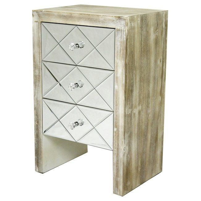 Laurel 3-drawer Mirror Front Accent Chest