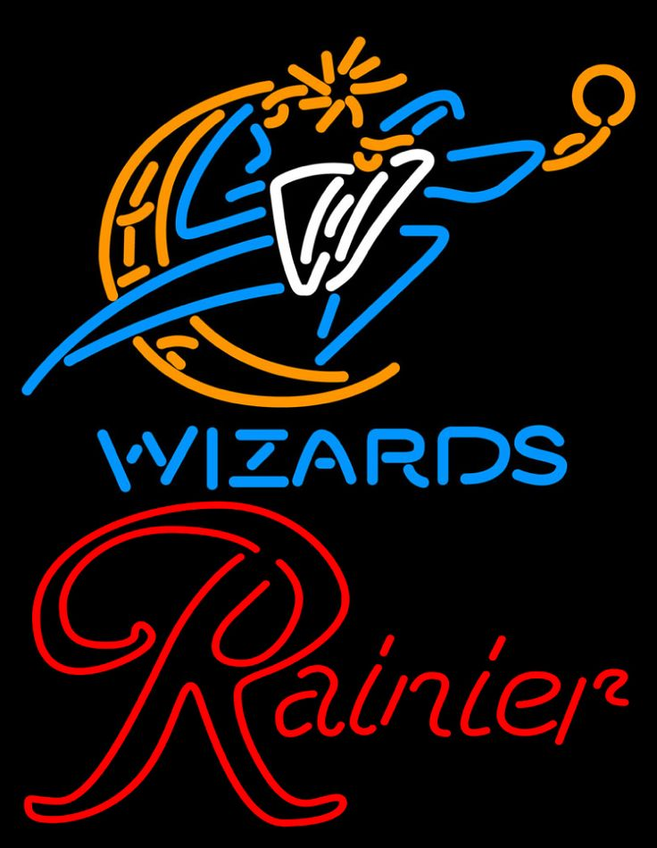 Rainier Washington Wizards NBA Neon Beer Sign, Rainier with NBA | Beer with Sports Signs. Makes a great gift. High impact, eye catching, real glass tube neon sign. In stock. Ships in 5 days or less. Brand New Indoor Neon Sign. Neon Tube thickness is 9MM. All Neon Signs have 1 year warranty and 0% breakage guarantee.