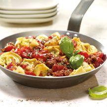 Tortelloni Hack Pfanne mit Tomaten