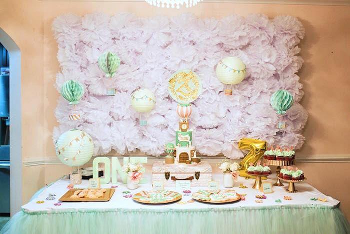 Vintage Hot Air Balloon Birthday Party via Kara's Party Ideas | KarasPartyIdeas.com (13)