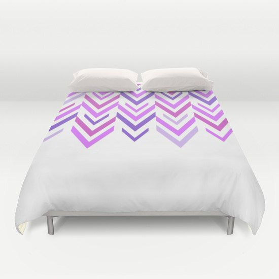 Purple Bed Cover - Purple and White Arrows - Duvet Cover Only - Bed  Spread - Bedroom Decor - Made to Order
