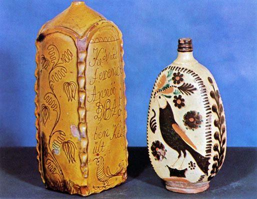 Hasáb butella, Hódmezővásárhely 1884 - Magyar Néprajzi Muzeum
