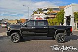 Pictures and description of a 2015 GMC Sierra 2500 Denali HD Onyx Black. Cognito Leveling Kit, Fox Shox, SOTA Offroad Wheels, Toyo Tires, AMP Research Steps.