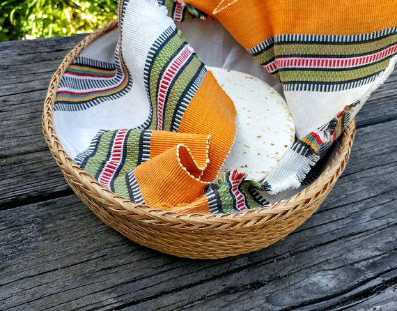 Vintage Southwestern Basket // Tortilla or Bread Warmer //