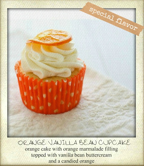 Available flavor at #CupcakeBox: Orange vanilla bean cupcakes