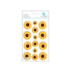 Martha Stewart Sticker Sunflower (Pack of 3)