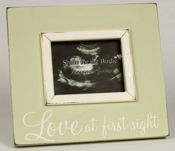 Love at First Sight Sonogram Picture Frame - great gift idea! $24