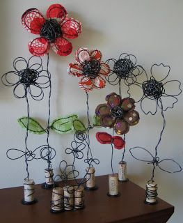 wire and fabric art