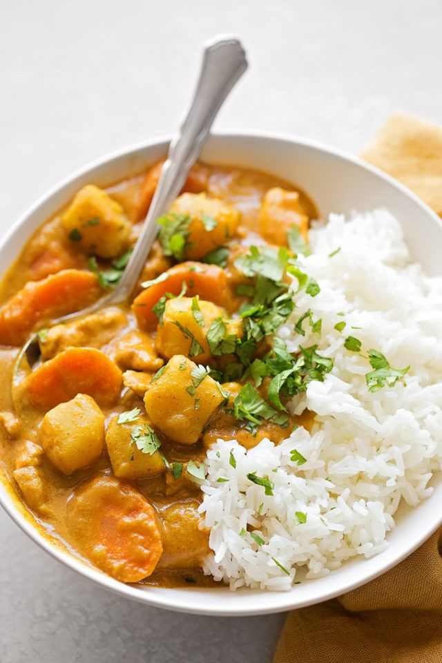 Yellow Coconut Curry Chicken Life Made Simple Recipe Curry Recipes Coconut Curry Chicken Recipes Curry Chicken Recipes