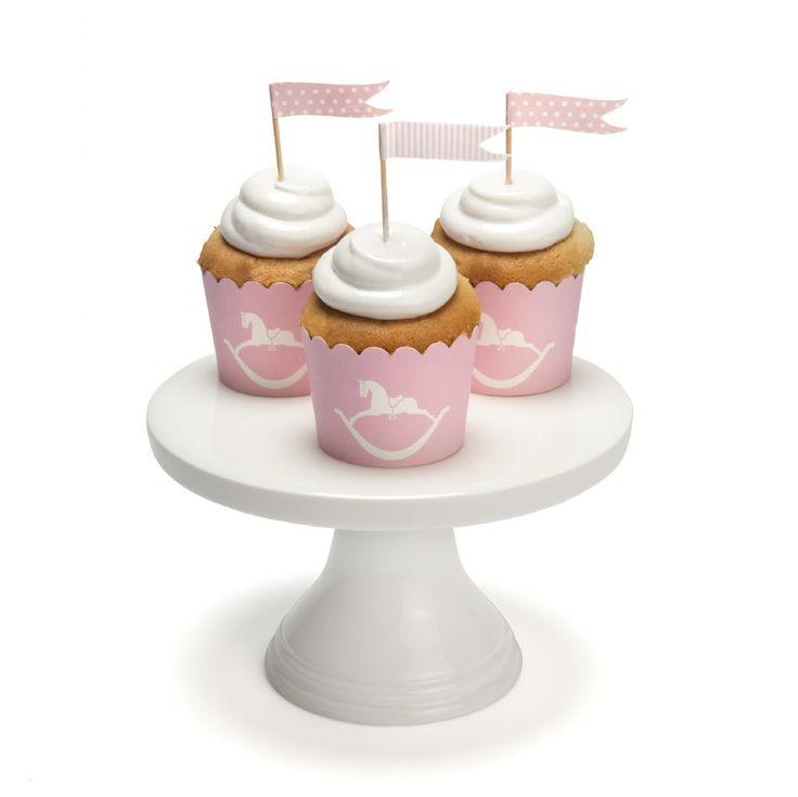 Pink Rocking Horse Cupcake Baking Cups