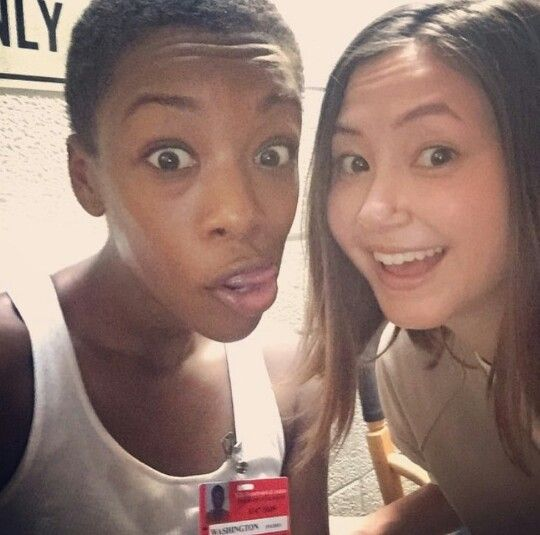 Poussey + Soso = Pousoso... anybody else think they're adorable together? I like how the prison wasn't as segregated in season three. Everybody hung out with each other. #OITNB