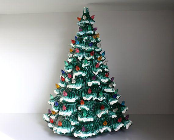 Large 16 vintage ceramic Christmas tree by AnnieGirlVintage