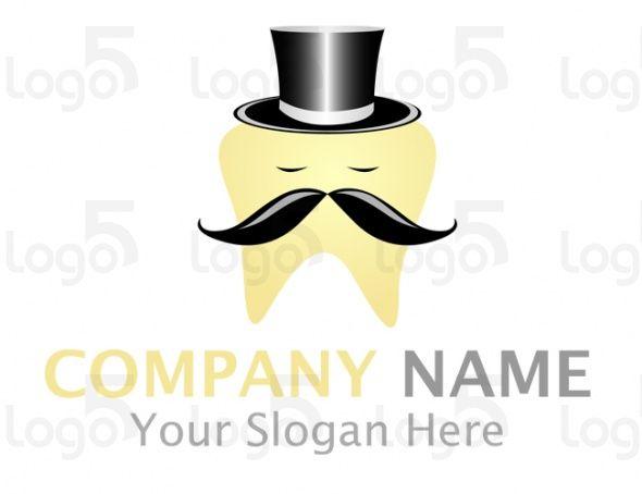 Mr. Dentist - Zahnkrone mit Zylinder und Bart