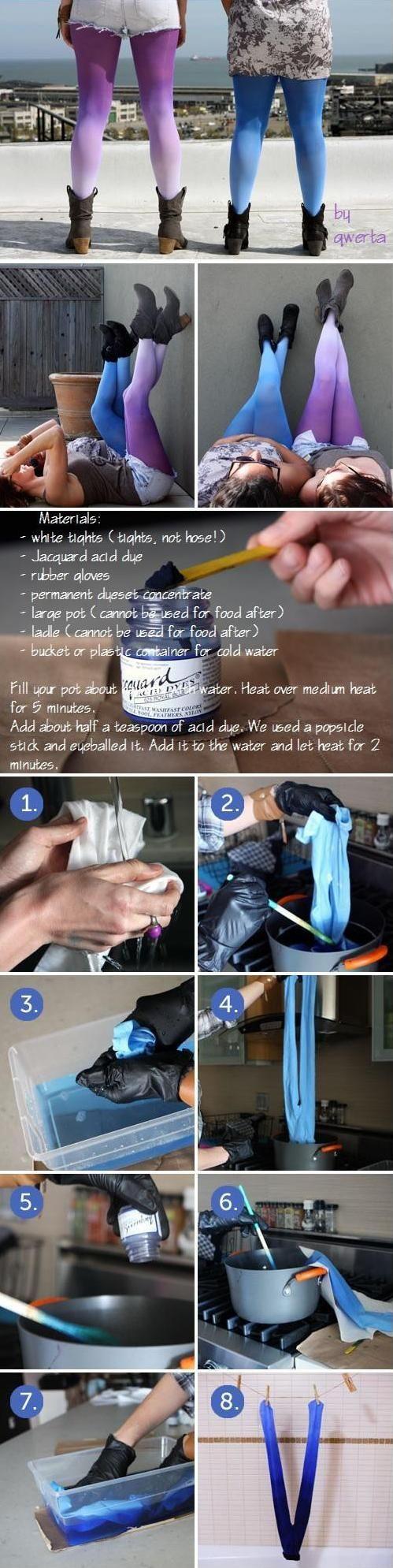 Zobacz zdjęcie Potrzebne: Białe leginsy Barwnik (zależy jaki kolor chcecie to tam sami wybierzcie) Rękawice gumowe Koncentrat barwnika Naczynie z wodą Duża łyżka (do mieszania) w pełnej rozdzielczości