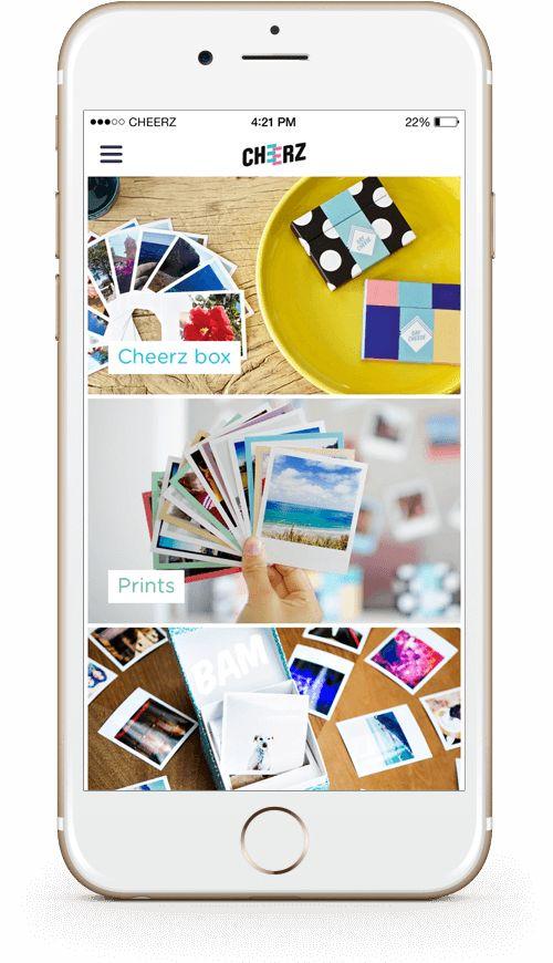 Phone app - imprimer photos, magnet, album de manière sympa