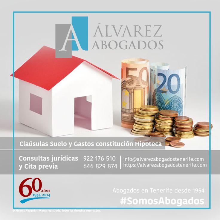 Cláusula Suelo, le ayudamos a calcular y reclamar la cantidad que le adeudan. Además, recupere con nosotros los gastos que abono en la constitución de la hipoteca. http://alvarezabogadostenerife.com/?p=12216 #SomosAbogados #Clausulasuelo #Tenerife #Abogados