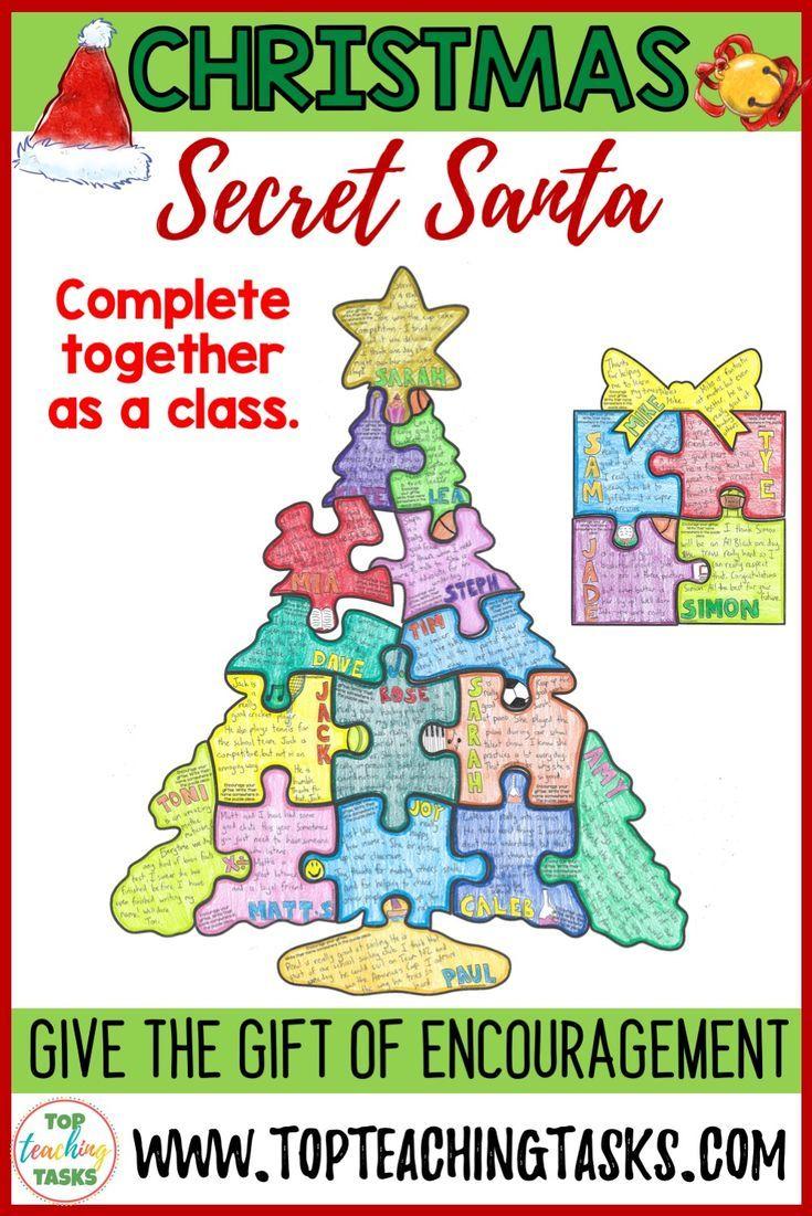 Task For Secret Santa Game : secret, santa, Christmas, Activities, Secret, Santa, Collaborative, Puzzle, Santa,, Game,, Elephant, Birthday